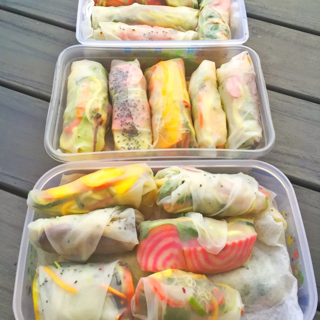 Finished Salad Rolls