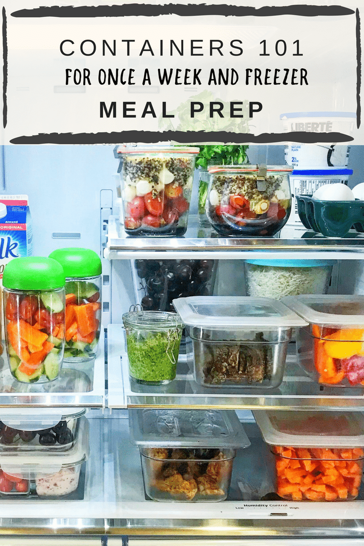 Containers 101 for Once a Week and Fill Your Freezer Meal Prep