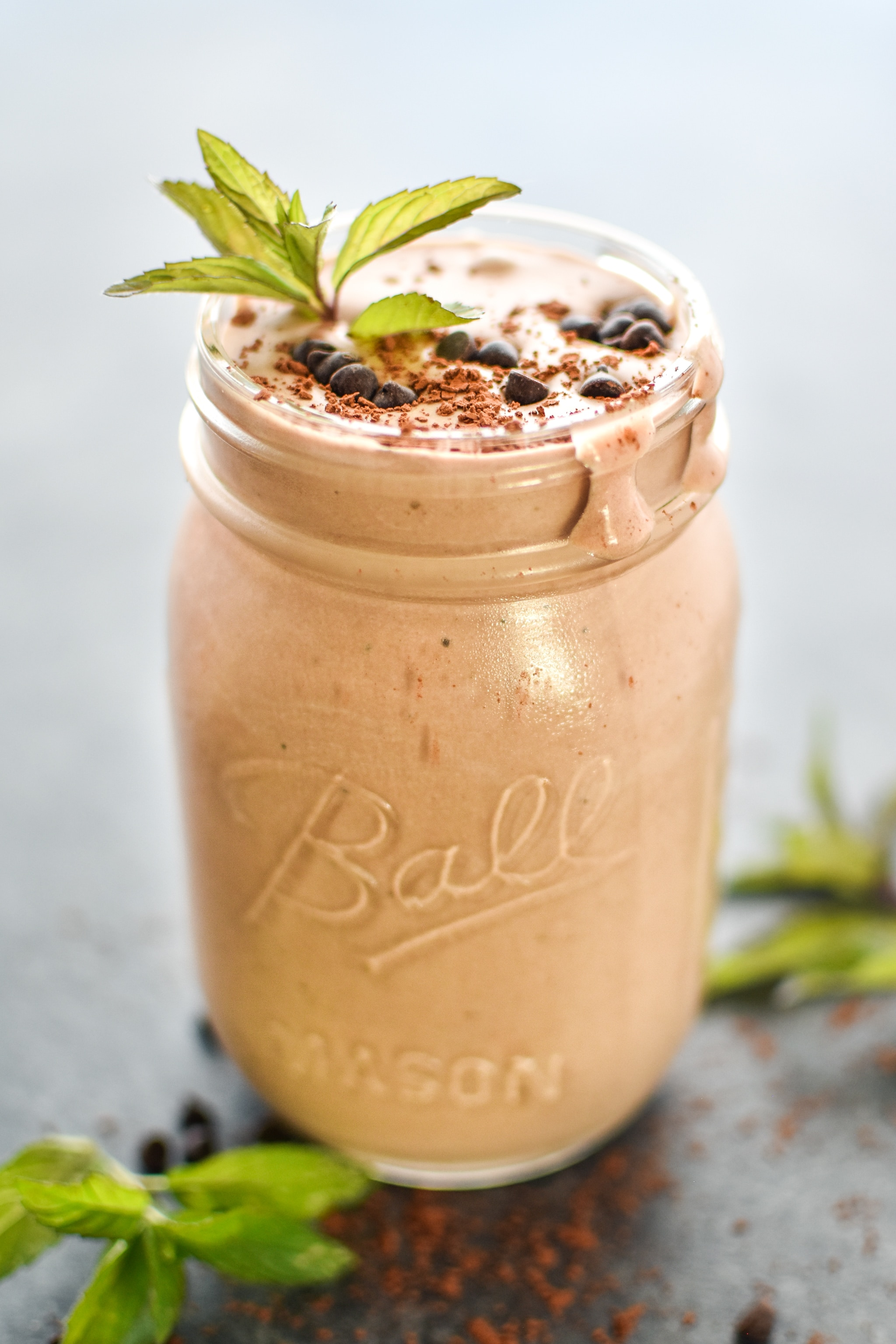 Mint Chocolate Protein Smoothie Freezer Packs