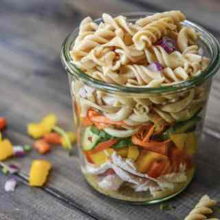 Italian Turkey & Fusilli Mason Jar Salad