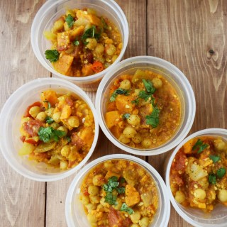 Instant Pot Coconut Curried Sweet Potato Stew