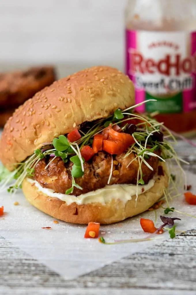 Sweet Chili Chicken Burgers {Prep Ahead, Freezer Friendly}