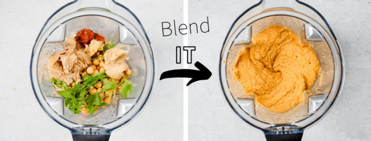 hummus in blender