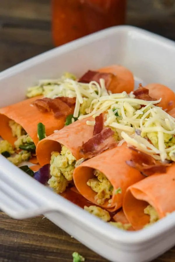 Sweet Potato Breakfast Roll Ups