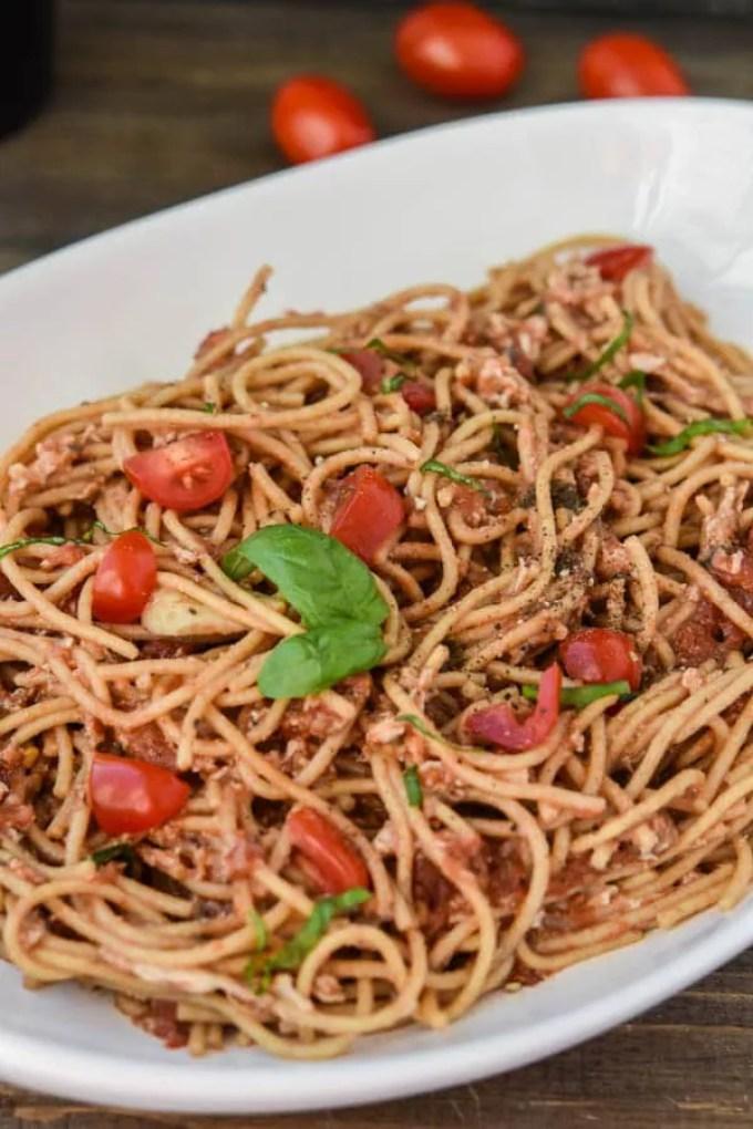 Instant Pot Bruschetta Pasta
