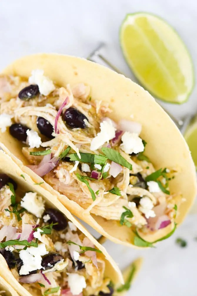 Instant Pot Salsa Verde Chicken Tacos 2