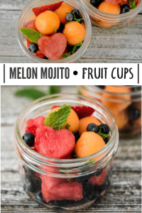 Melon Mojito Fruit Cups