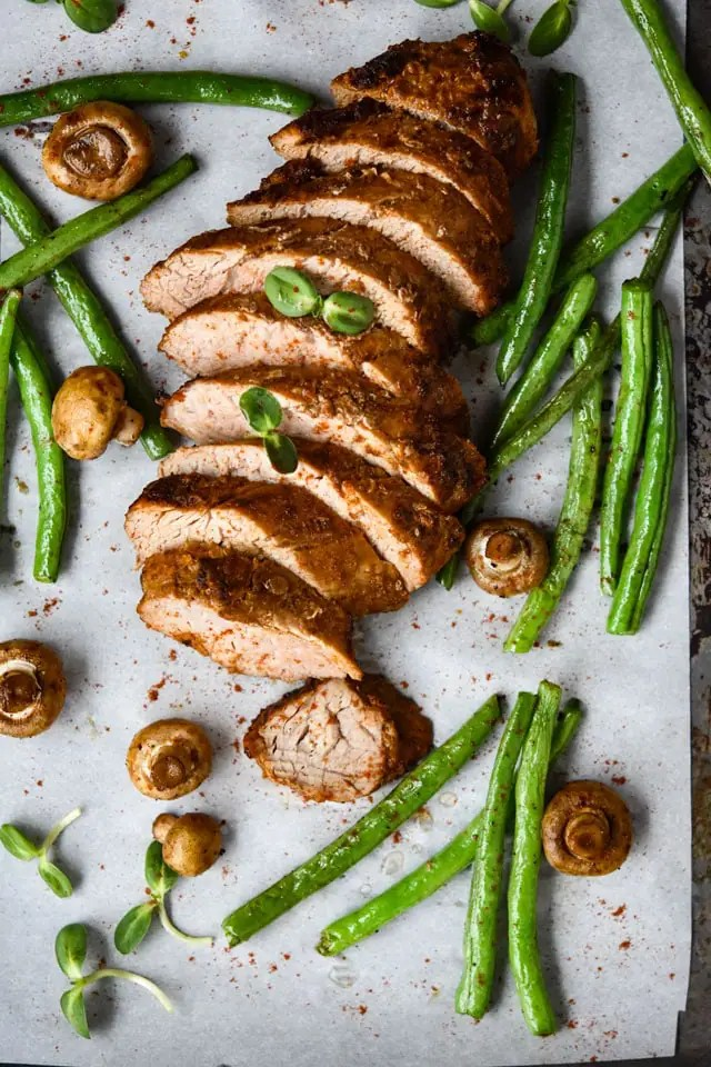 Freezer Friendly Moroccan Style Pork Tenderloin {Oven or Air Fryer}