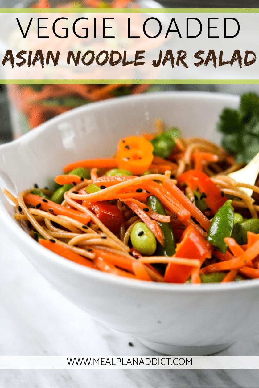 Veggie Loaded Asian Noodle Jar Salad