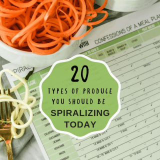 20 types of produce you should be spiralizing right now! {+printable cheat sheet}