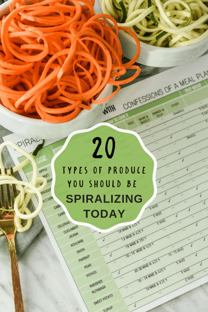 20 types of produce you should be spiralizing right now