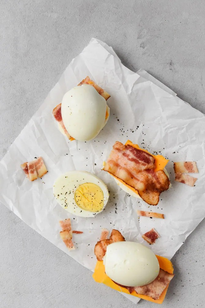 bacon and egger on parchment