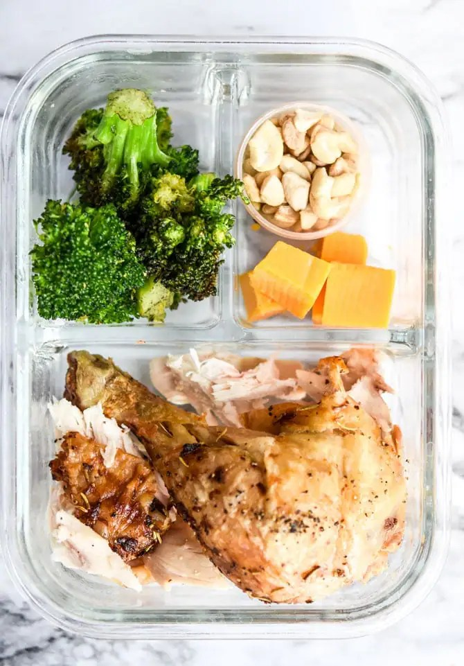1 Rotisserie Chicken, 4 Meal Prep Lunches-2