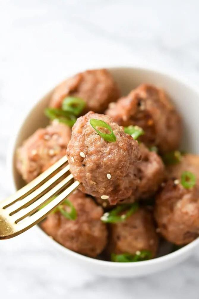Easy Asian Pork Meatballs-8