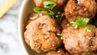 Easy Asian Pork Meatballs