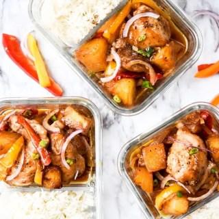 Sheet Pan Hawaiian Chicken Meal Prep