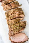 Herb Crusted Honey Mustard Pork Tenderloin-4