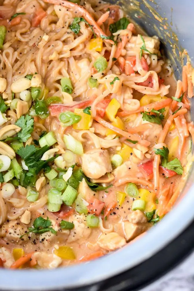Instant Pot Sticky Garlic Peanut Noodles with Chicken-2