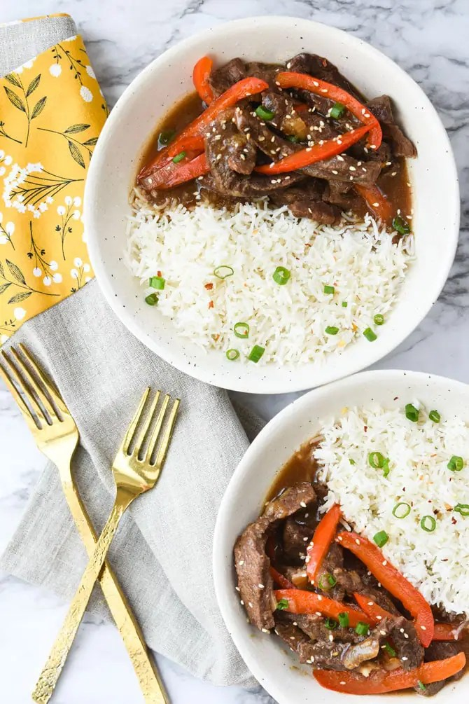 Instant Pot Ginger Beef Stir Fry-3