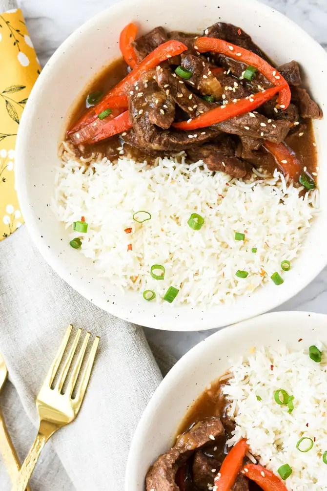 Instant Pot Ginger Beef Stir Fry-8