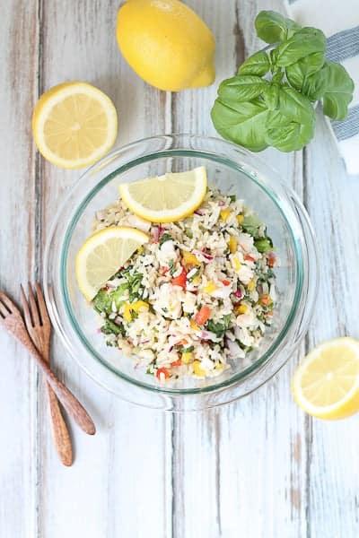 Lemon Basil Chicken Salad - Gluten Free