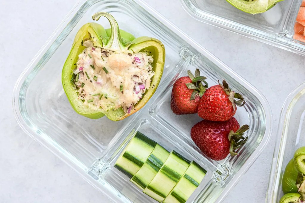 Low carb tuna melts single meal prep