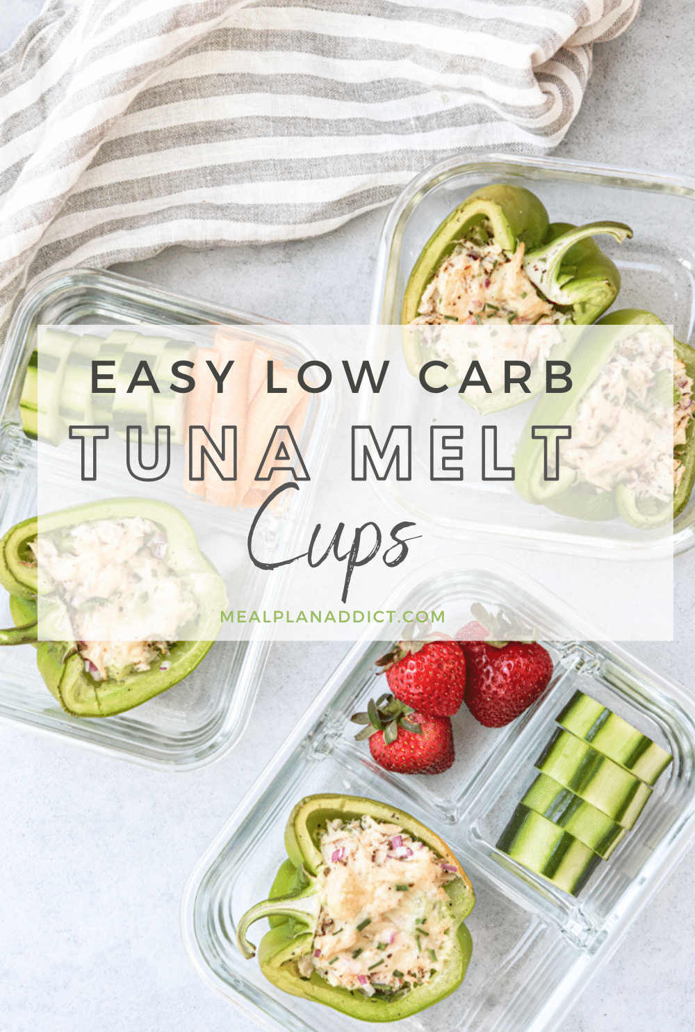 Easy Low Carb Tuna Melt Cups - Meal Plan Addict