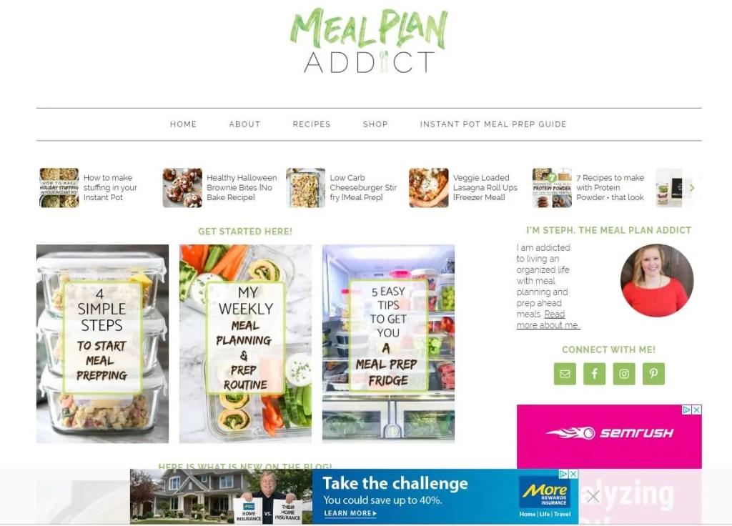blogging as a business screenshot of ads on a website