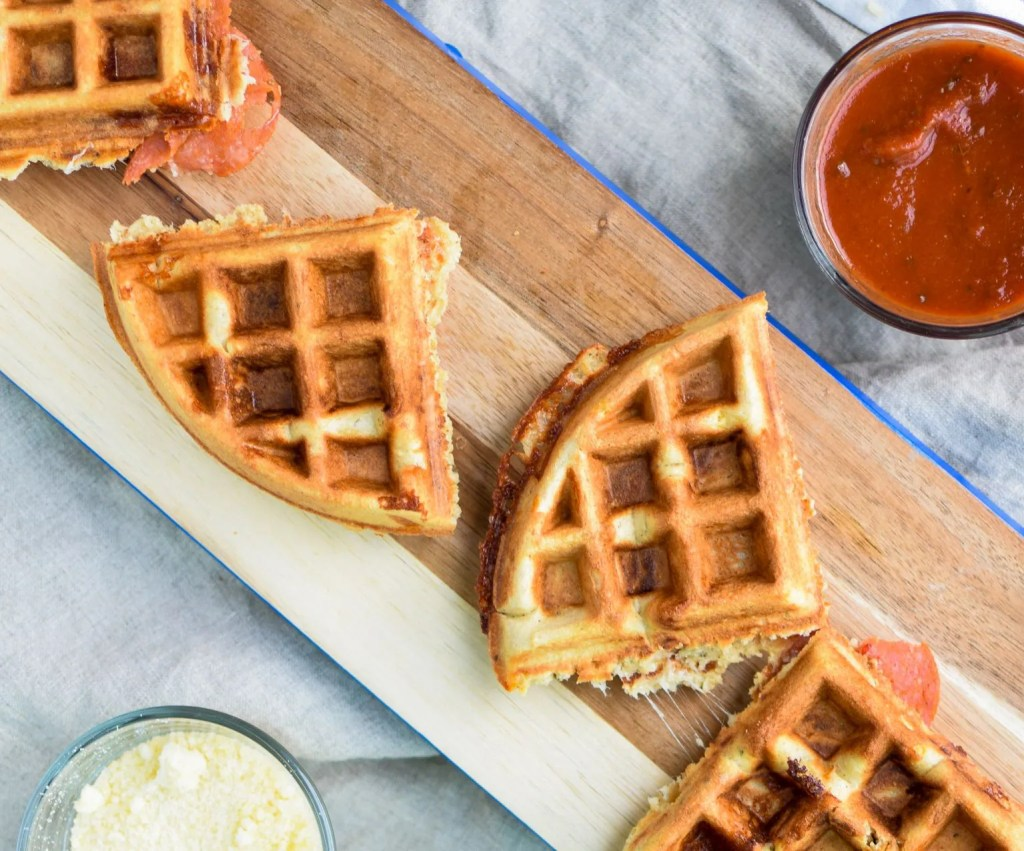 protein-packed-pepperoni-pizza-waffles
