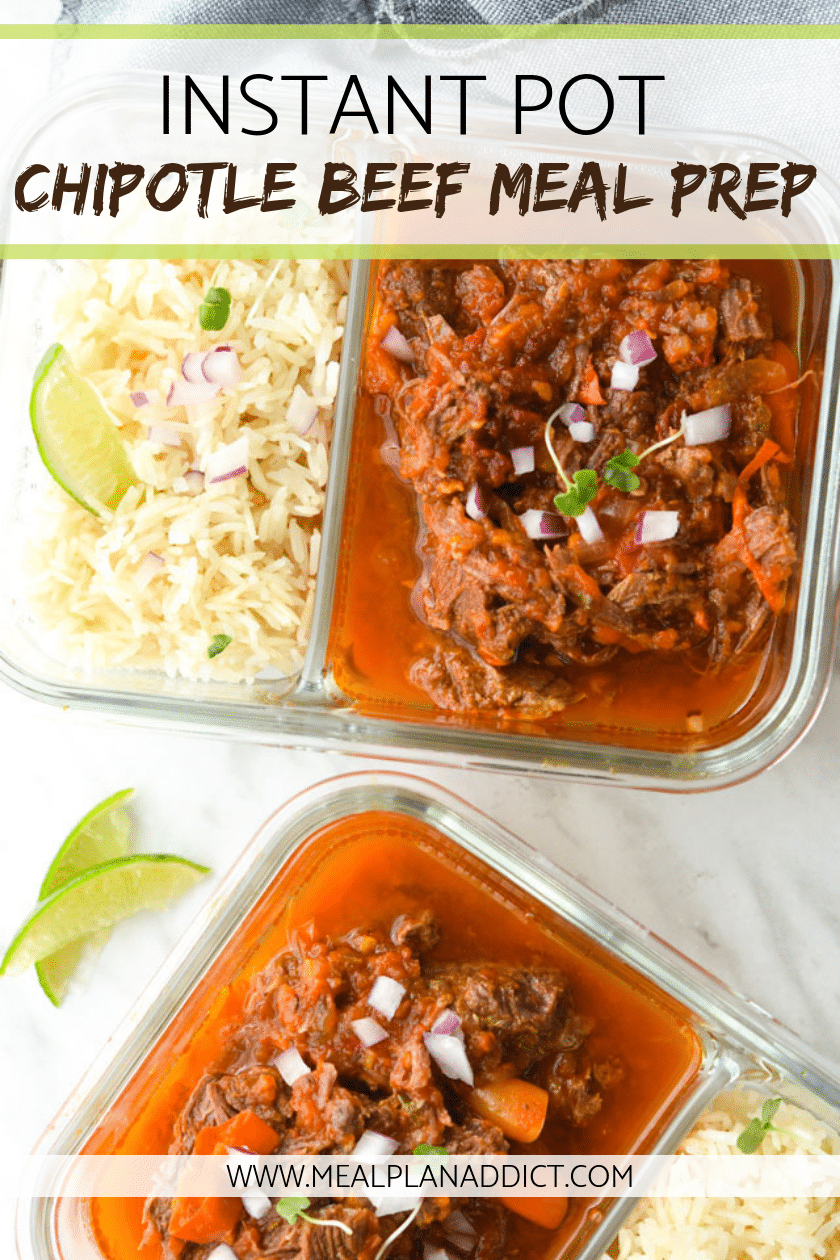 Instant Pot Chipotle Beef Meal Prep