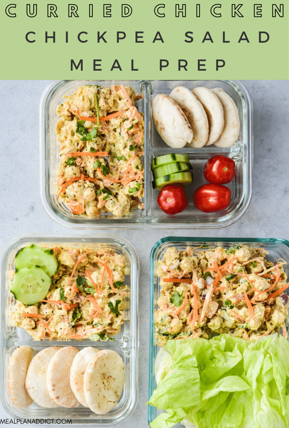 Chickpea salad pin for Pinterest