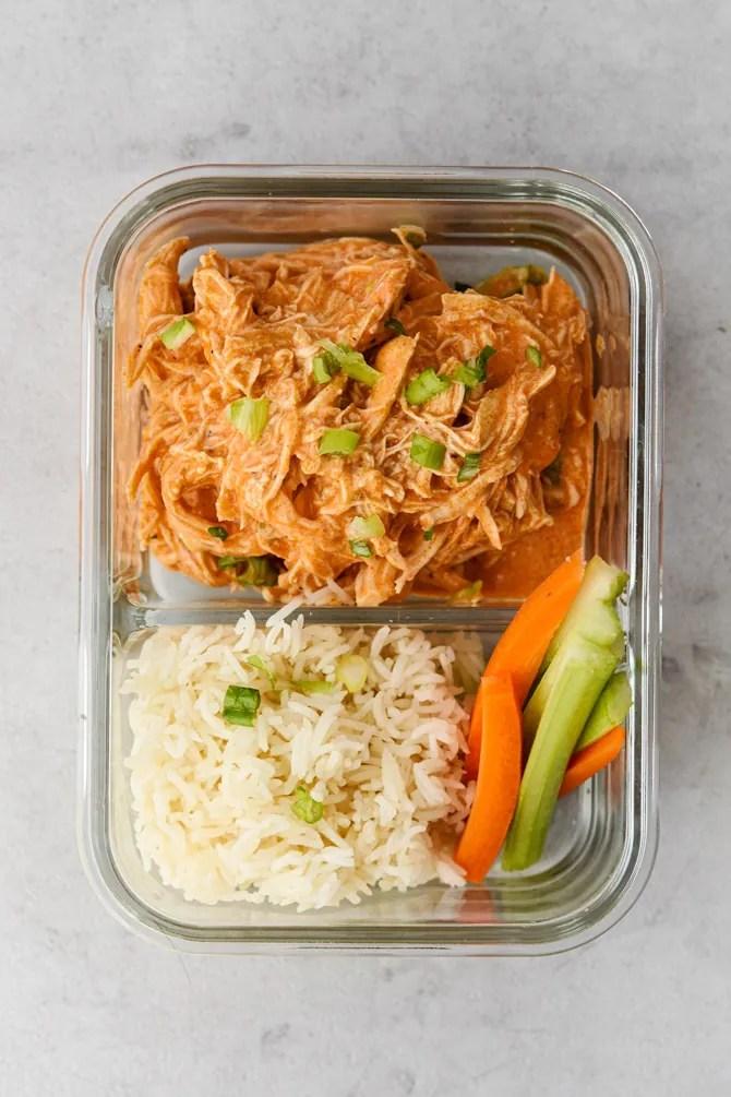 Buffalo chicken meal prep