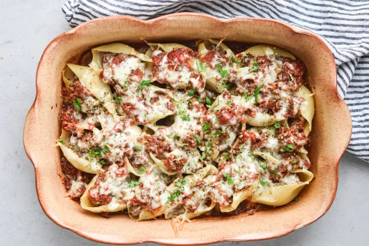 beef stuffed shells landscape