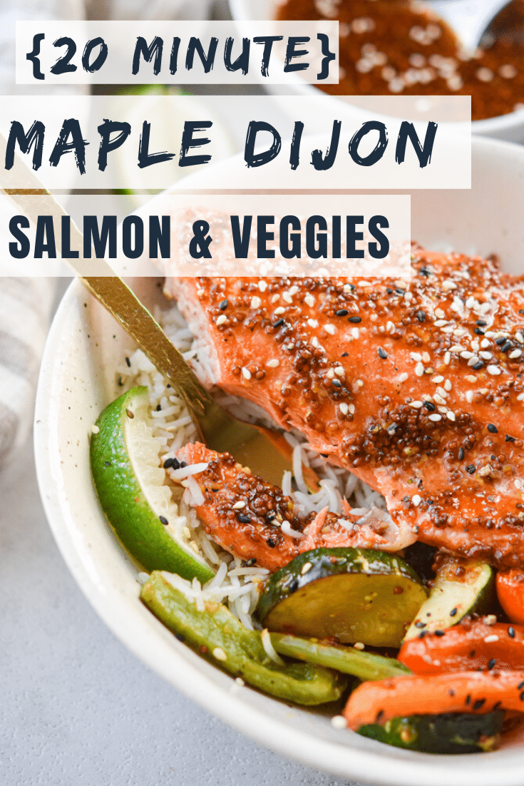 Sheet Pan Maple Dijon Salmon & Veggies