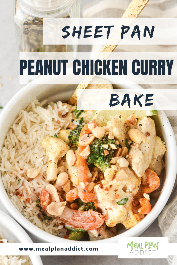 Sheet Pan Peanut Chicken Curry Bake