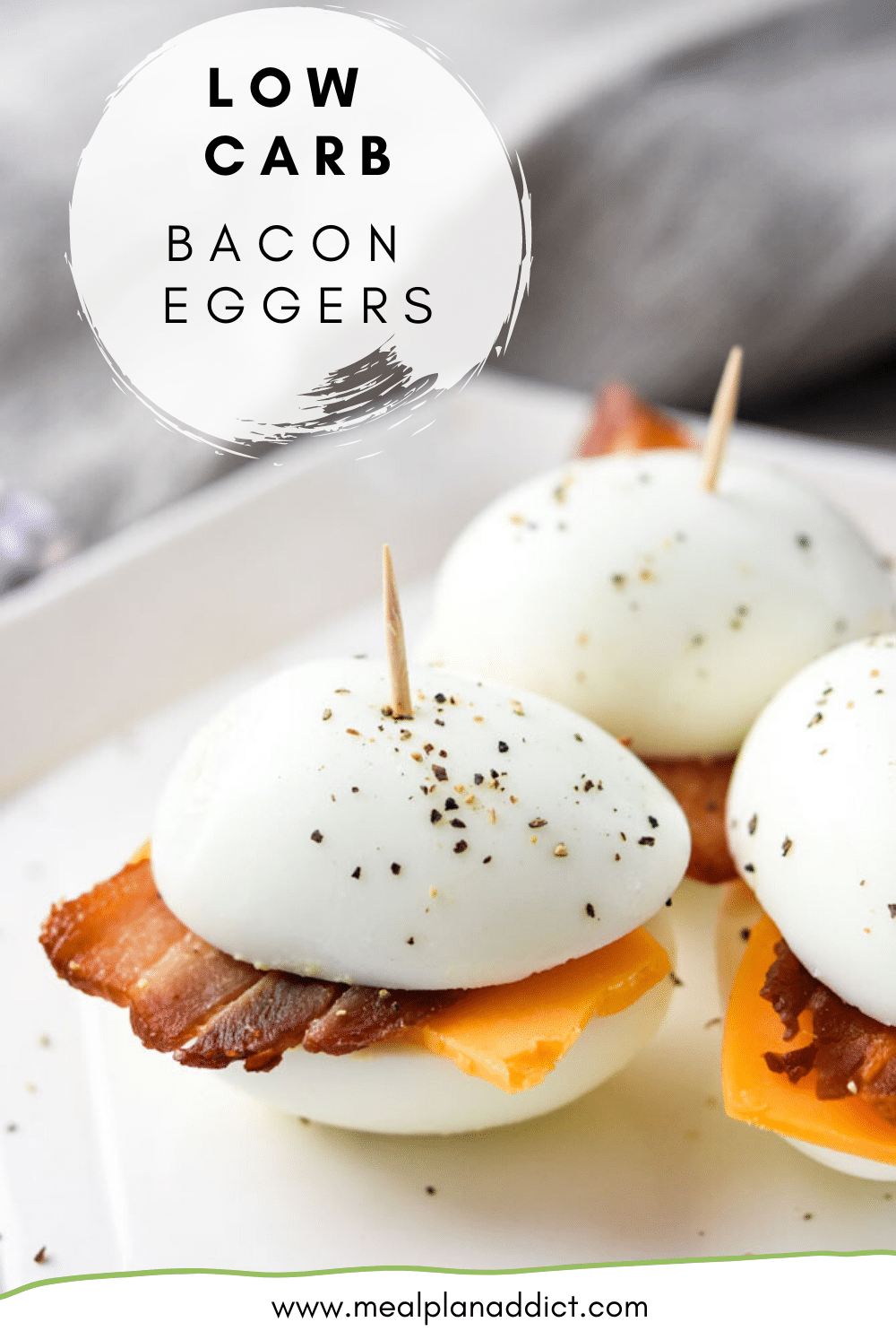 Low Carb Bacon Eggers