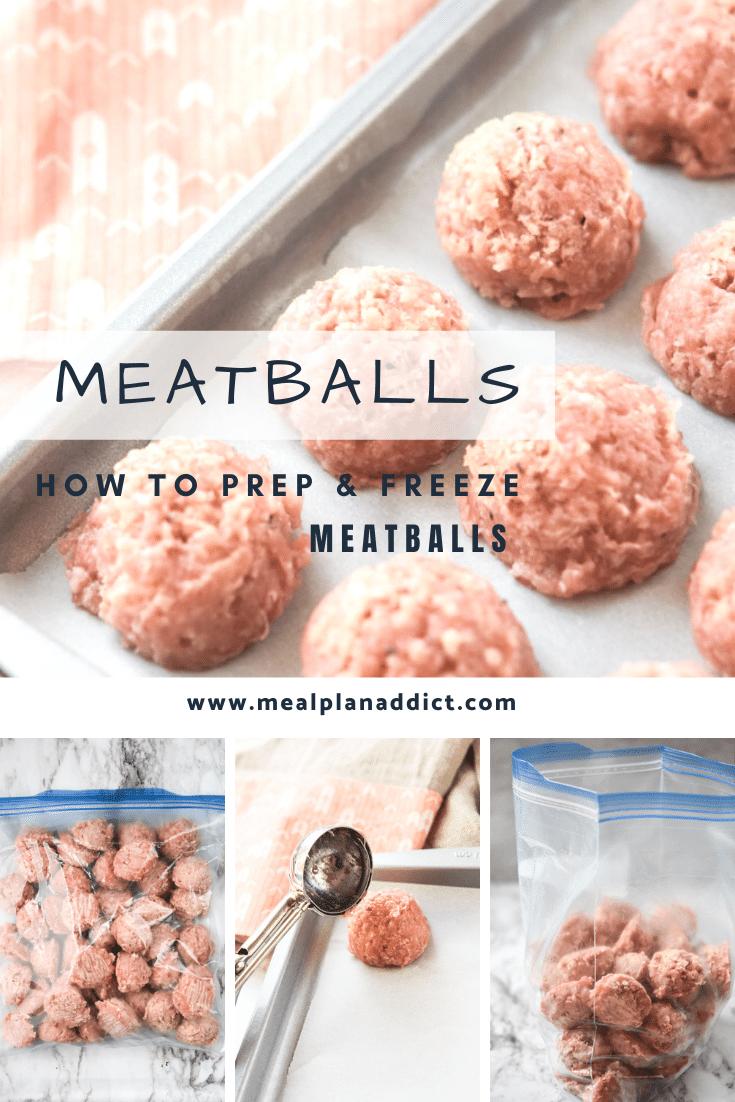 How to prep & freeze meatballs