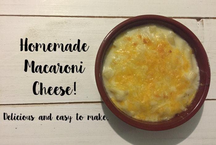 Homemade macaroni cheese