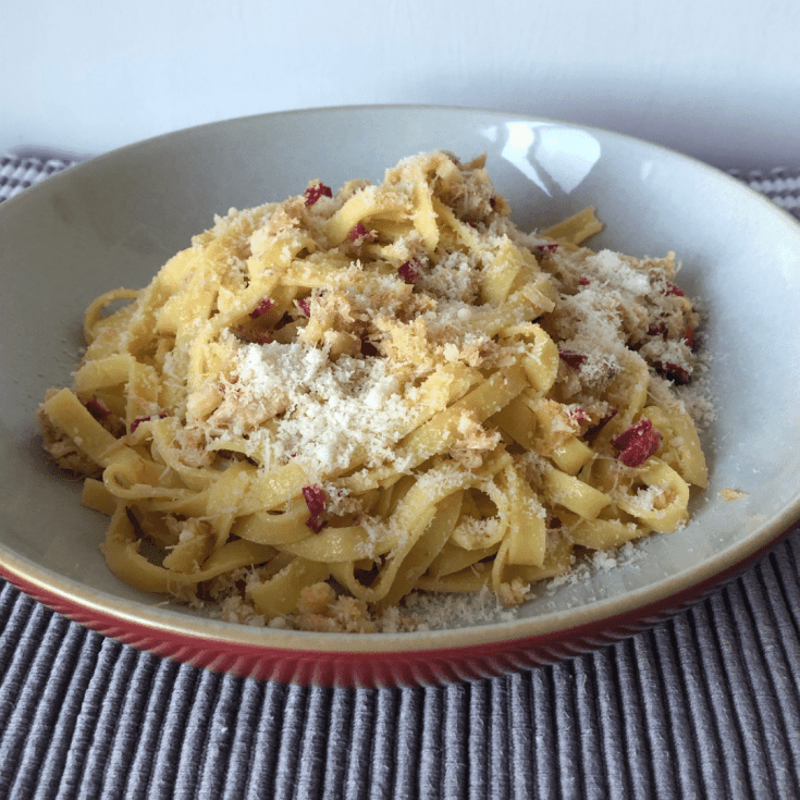 Easy Crab, Lemon and Chilli Tagliatelle...