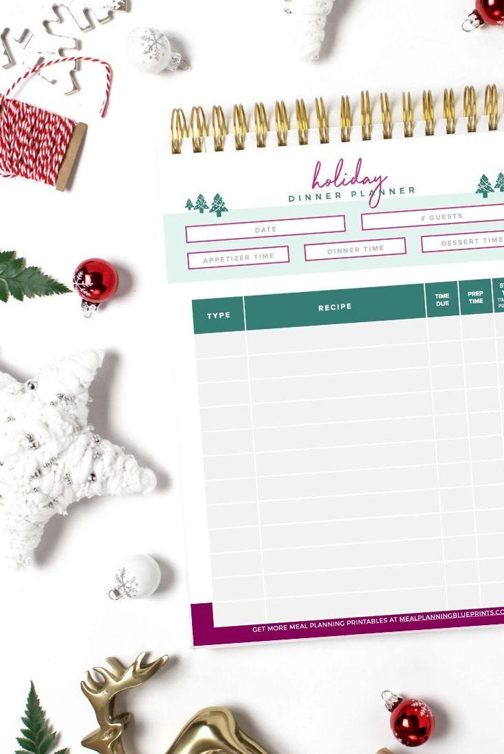 15 Holiday Planners You Need to Finally Get Organized in 2020