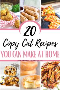 Learning how to make your take out favourites at home with copy cat restaurant recipes can save you tons of money plus help your family adapt more easily to a meal plan.
