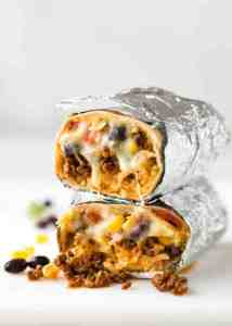 Beef burrito recipe for those that miss their Mexican takeout using these copy cat restaurant recipes. Save money plus help your family adapt more easily to a meal plan with these 20 restaurant favourite recipes.