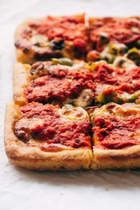 Detroit style pizza recipe for those that miss their pizza takeout using these copy cat restaurant recipes. Save money plus help your family adapt more easily to a meal plan with these 20 restaurant favourite recipes.