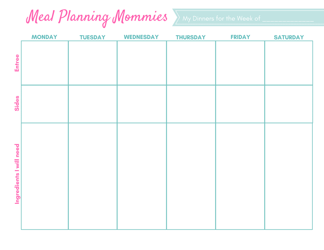 graphic relating to Printable Meal Planning Template identify No cost Up-to-date Printable Supper Designing Web pages Grocery Lists