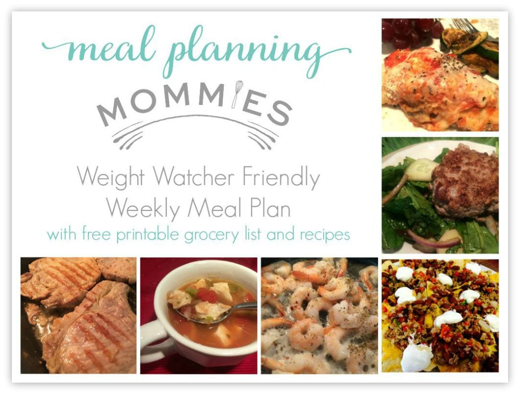 Free Weight Watcher Friendly Meal Plan And Grocery List 6