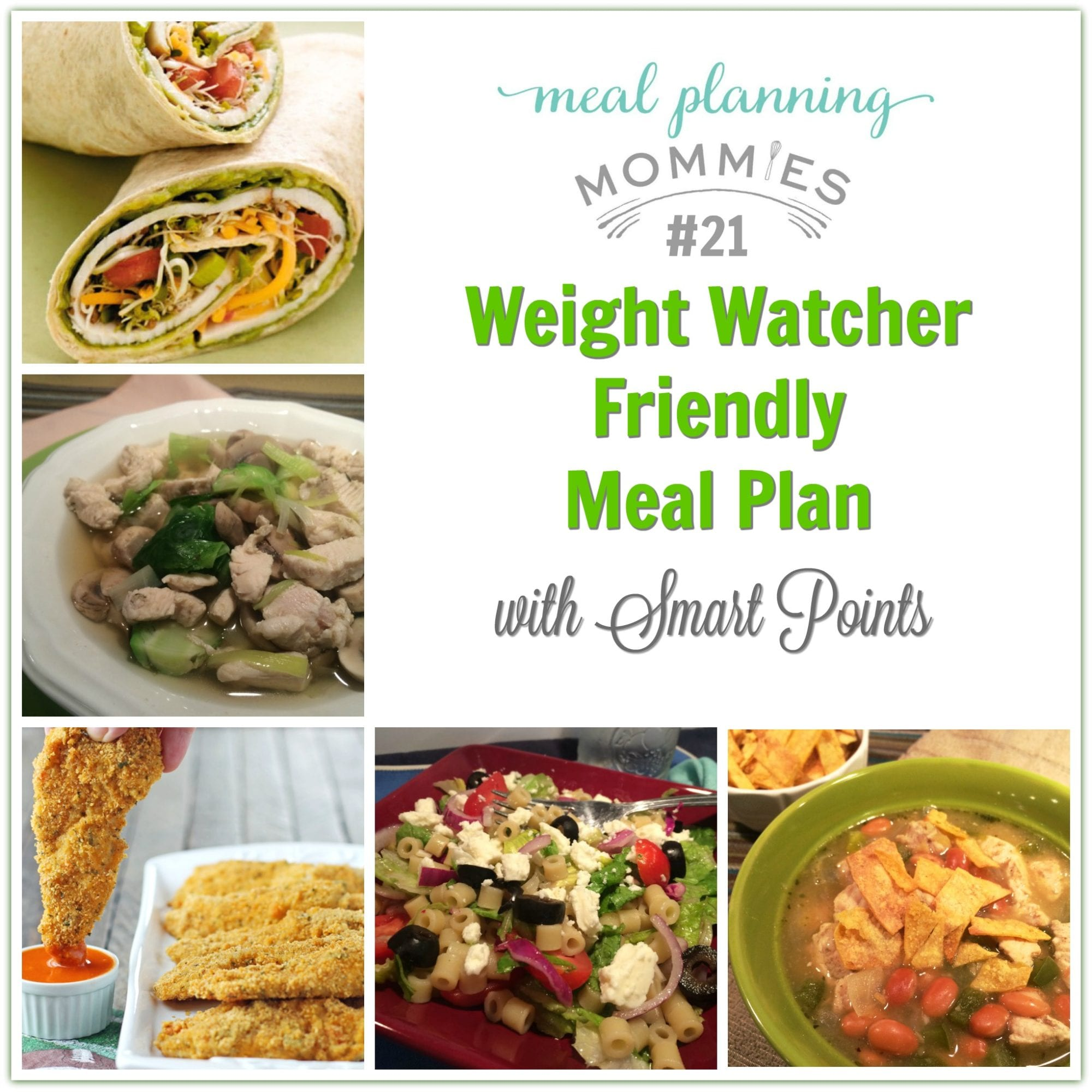 Weight Watcher Friendly Meal Plan 21 With Freestyle Smart