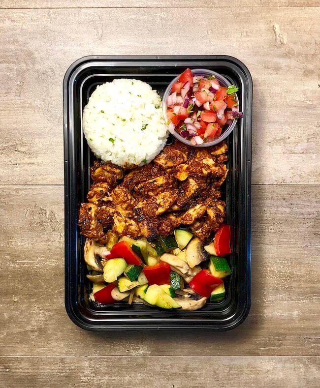 Enchilada Chicken with Calabacitas
