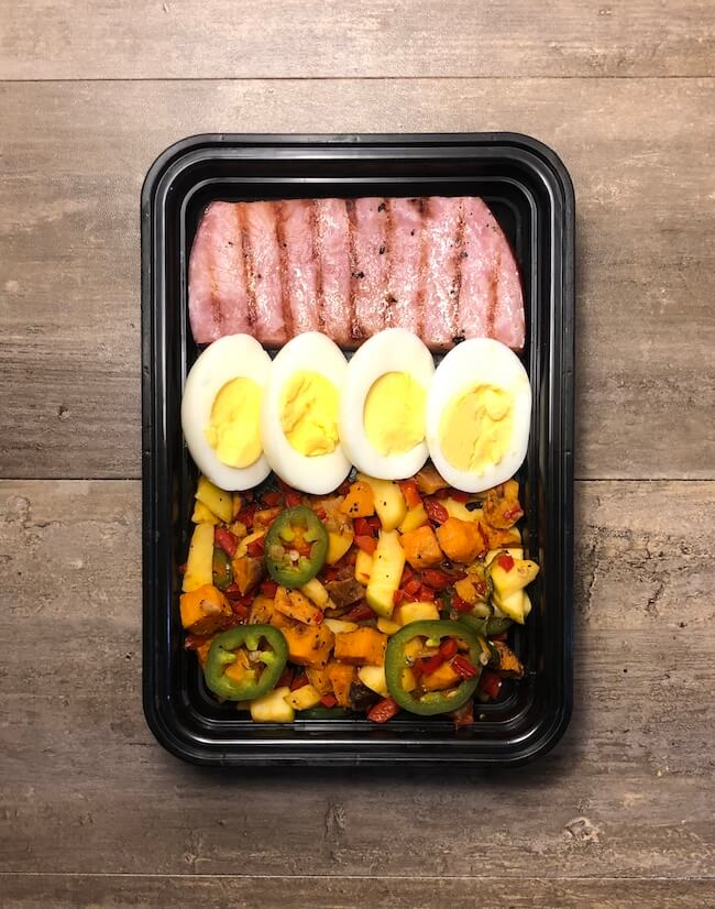 Read more about the article Jalapeño Apple Sweet Potato Hash with Ham and Eggs