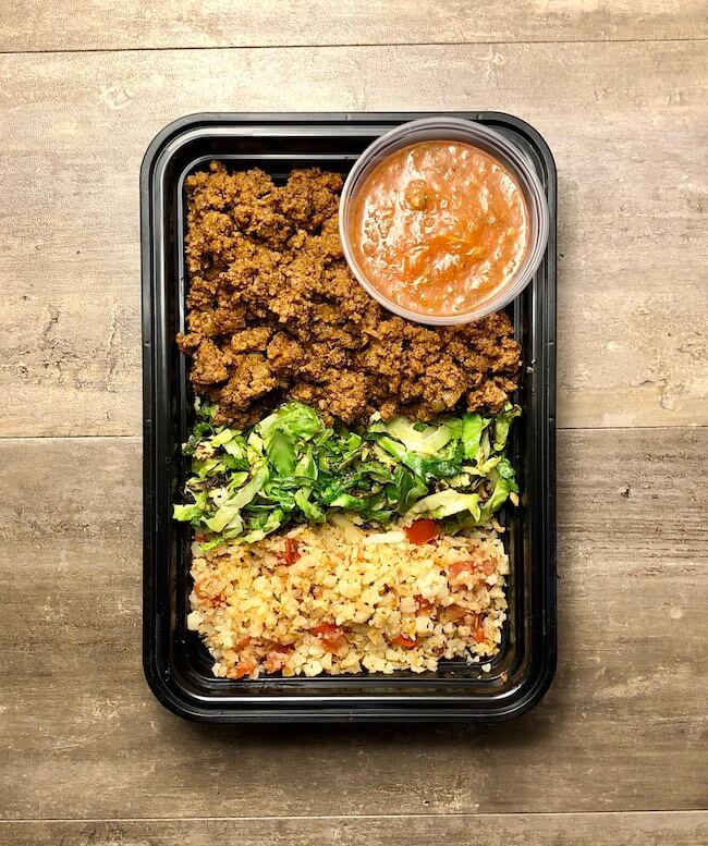 Taco Bowls with Cauliflower Rice
