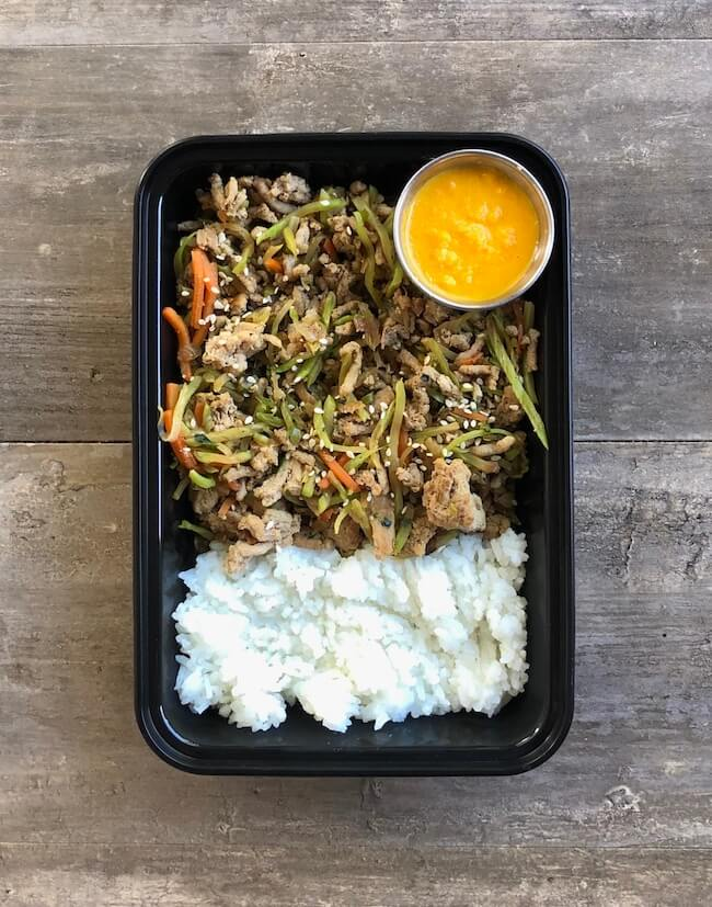 Miso Ginger Turkey with Rice